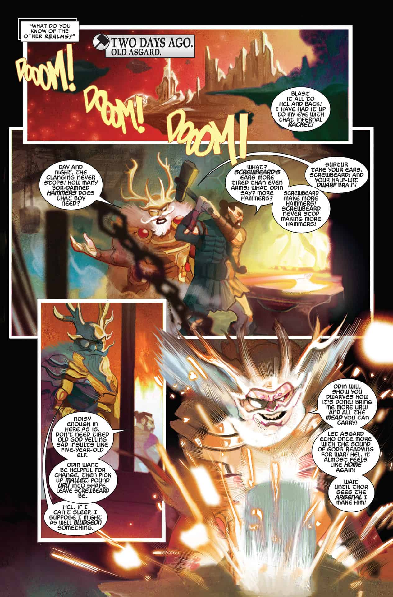marvel comics universe  u0026 thor  8 spoilers  the countdown to war of the realms continues as thor