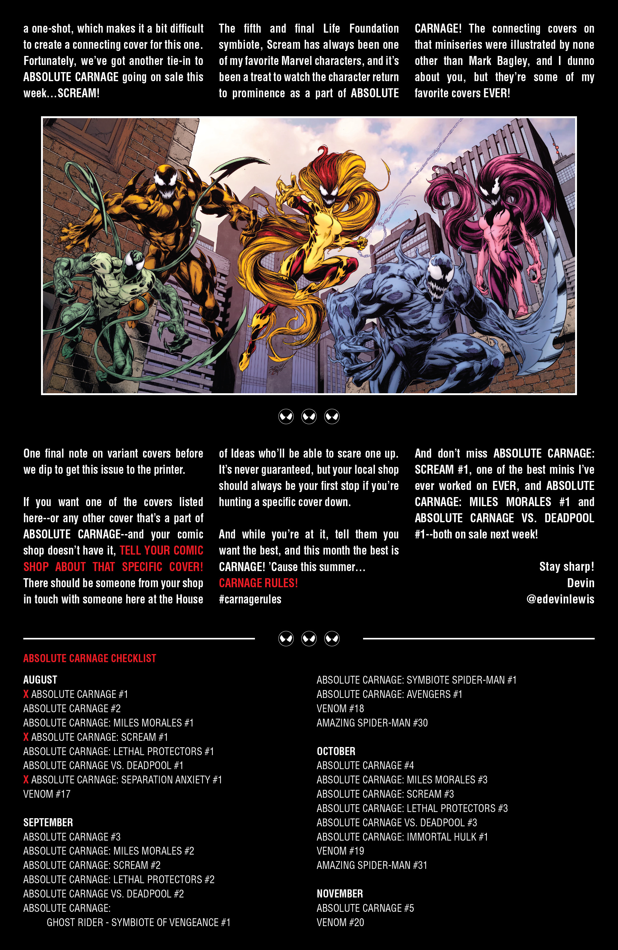 Marvel Comics Universe Absolute Carnage Separation Anxiety 1 Spoilers Review Where Do The Life Foundation Symbiotes Riot Phage Agony Lasher End Up Inside Pulse