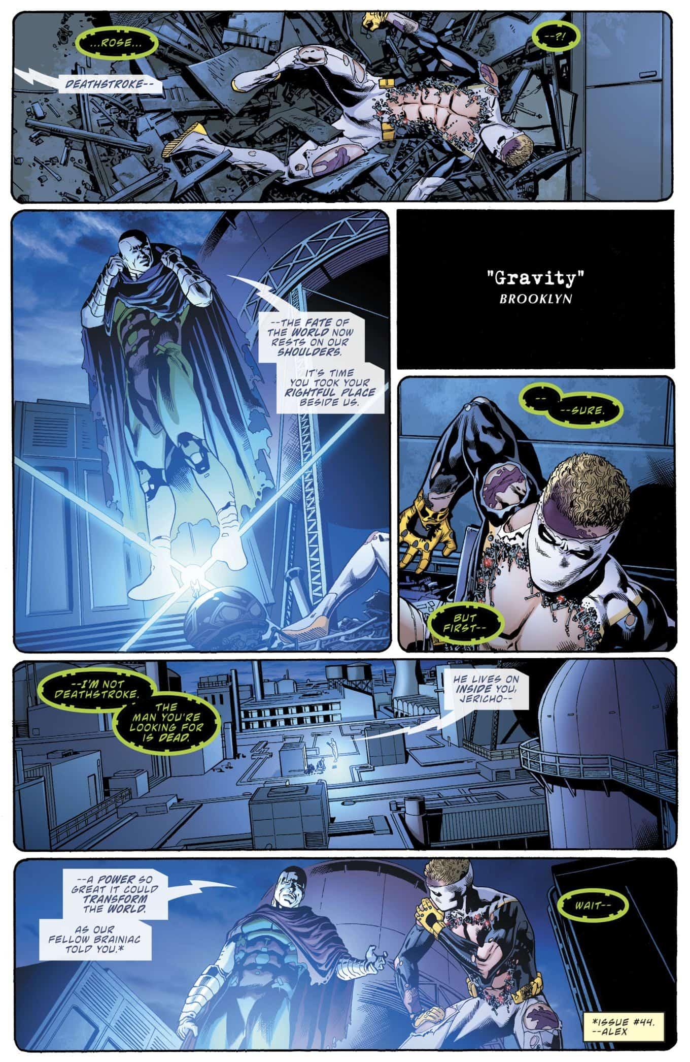 DC Comics Universe & Deathstroke #46 Spoilers & Review: A