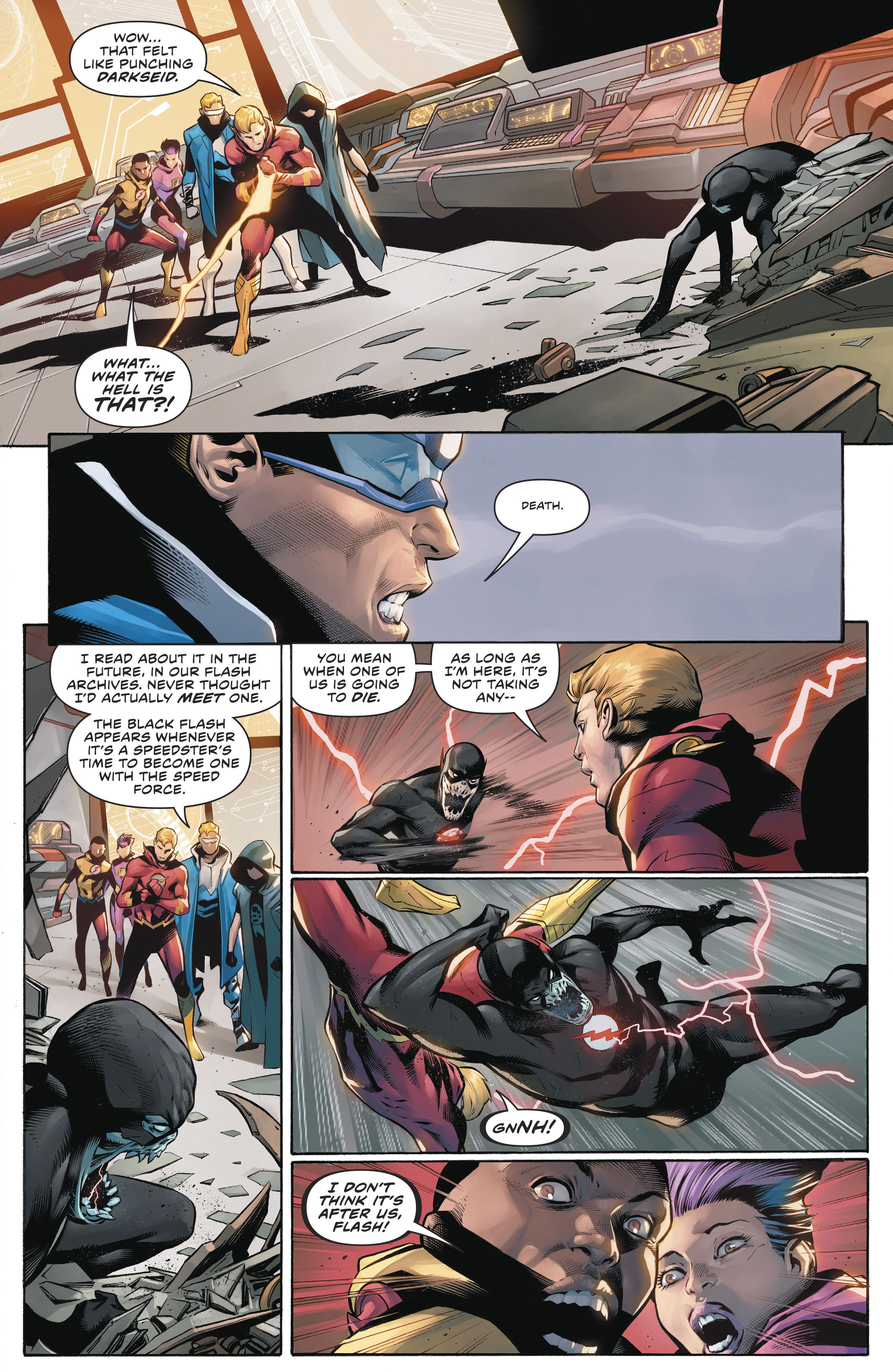 Dc Comics Universe The Flash 76 Spoilers Review Who Is The Black Flash Of Death After How Much Of This Issue Is A Dc S Year Of The Villain Tie In