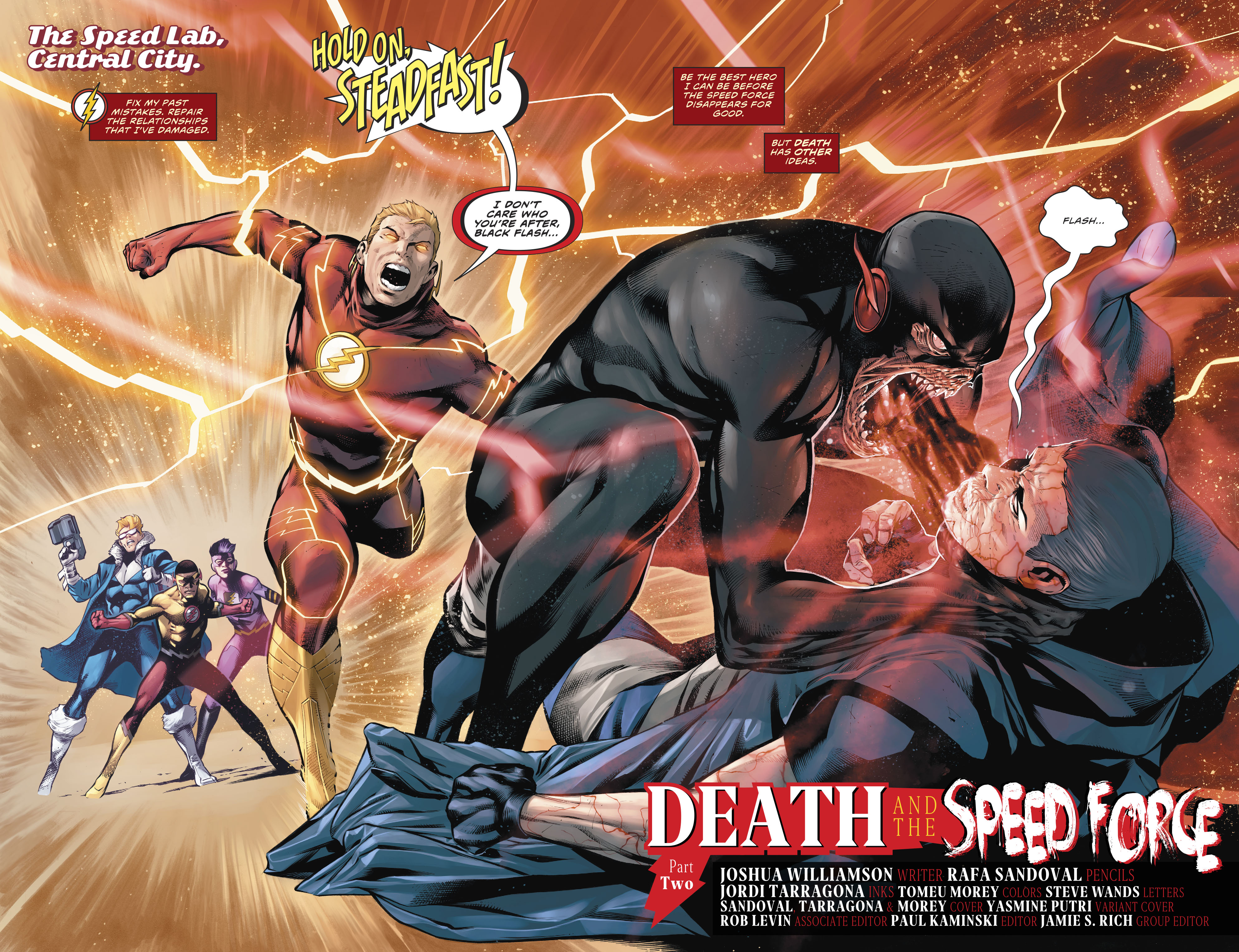 Dc Comics Universe The Flash 77 Spoilers Review Forces Collide With Speed Force Still Force Strength Force Sage Force Black Flash Of Death Plus Dc S Year Of The Villain