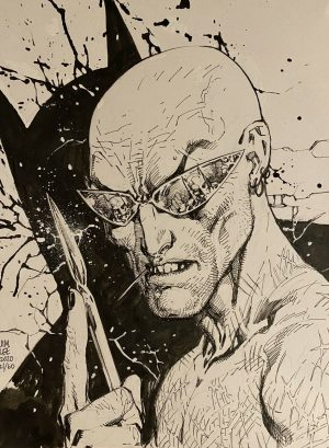 Sketch 21 Of 60 For Dc Comics Publisher Jim Lee Art Auction To Help Comic Book Retailors Hurt By Covid 19 Coronavirus Pandemic Batman Zsasz From Birds Of Prey Inside Pulse