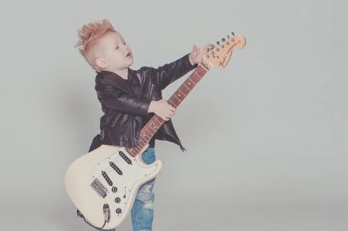 guitar and kid fender
